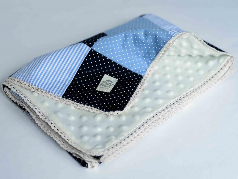 cobija mod. azul patchwork